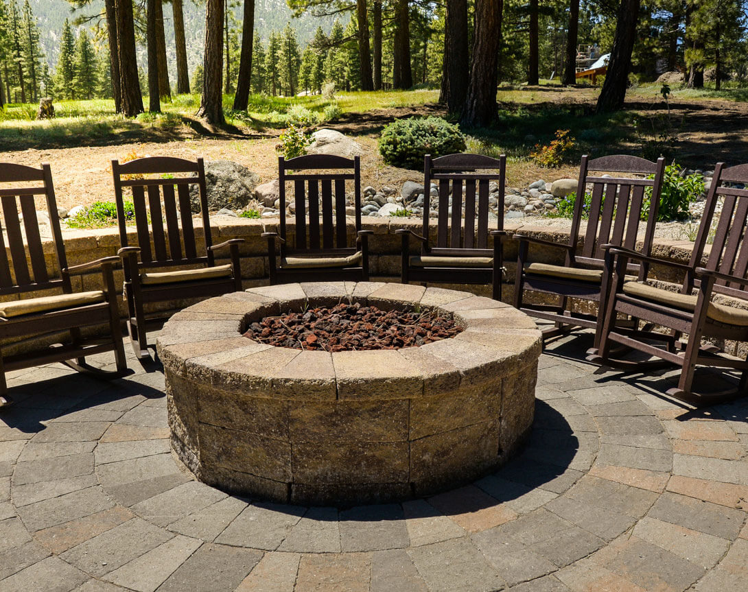 Gail Willey installed an outdoor paver patio with firepit