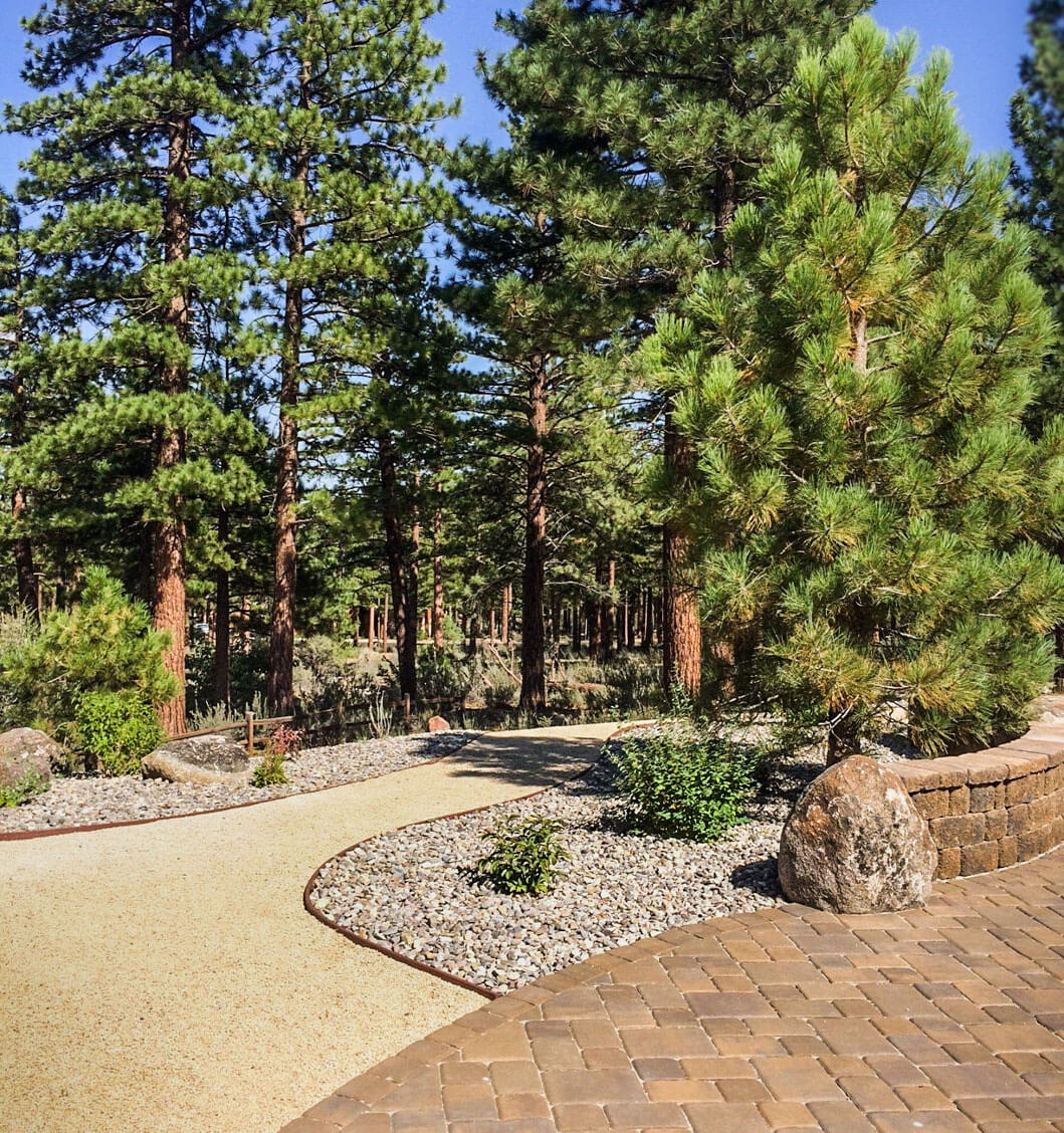 Hardscape landscaping installation by Gail Willey Landscaping