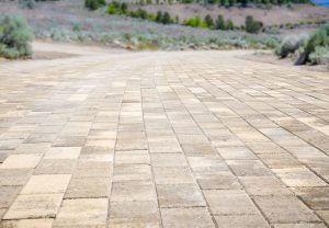 closeup of brickwork used in driveway