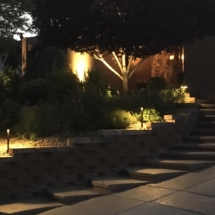 lights - Bergin path and landscape